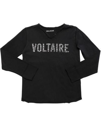 Трикотажная с рукавами футболка с вырезом Zadig&voltaire