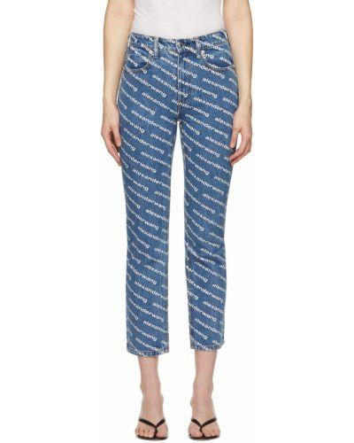 Джинсовые прямые джинсы - белые Alexander Wang