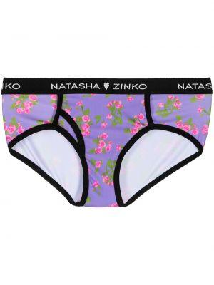Фиолетовые хлопковые трусы с подкладкой Natasha Zinko