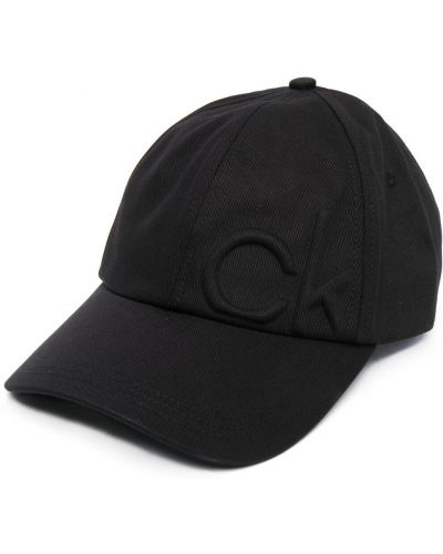 Ватная хлопковая черная кепка Calvin Klein