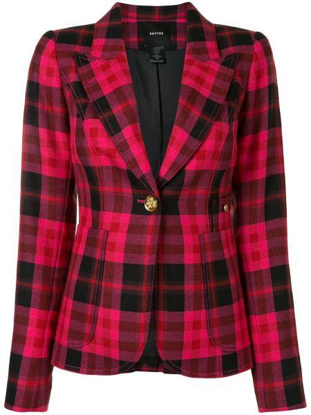 С рукавами розовый шерстяной пиджак Smythe