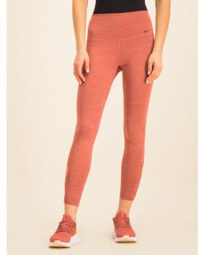 Różowe legginsy Legginsy Nike
