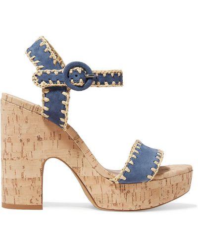 Sandały na platformie skorzane na obcasie Tabitha Simmons