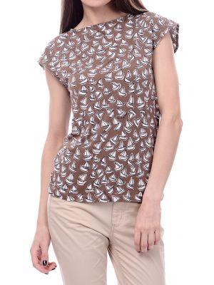 Хлопковая футболка - коричневая Marina Yachting