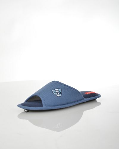 Текстильные синие домашние тапочки De Fonseca