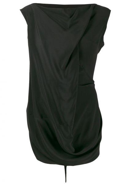 Блузка с драпировкой черная Rick Owens