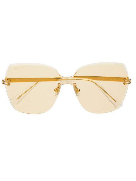 Złote żółte okulary oversize Bolon