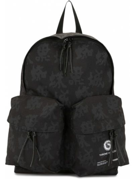 Czarny plecak bawełniany z printem Undercover