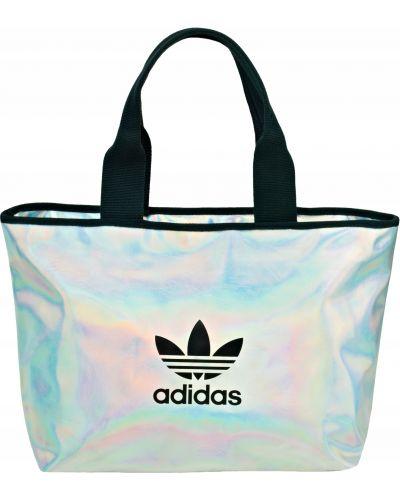 Szara torba na ramię miejska srebrna Adidas