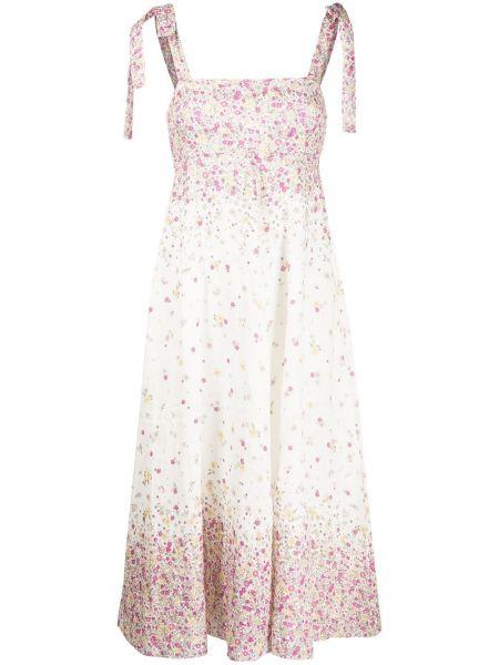 Платье миди розовое на бретелях Zimmermann