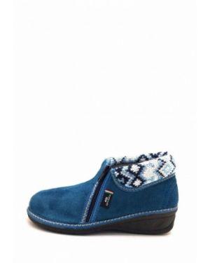 Текстильные тапочки - синие Spesita