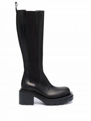 Кожаные сапоги - черные Bottega Veneta