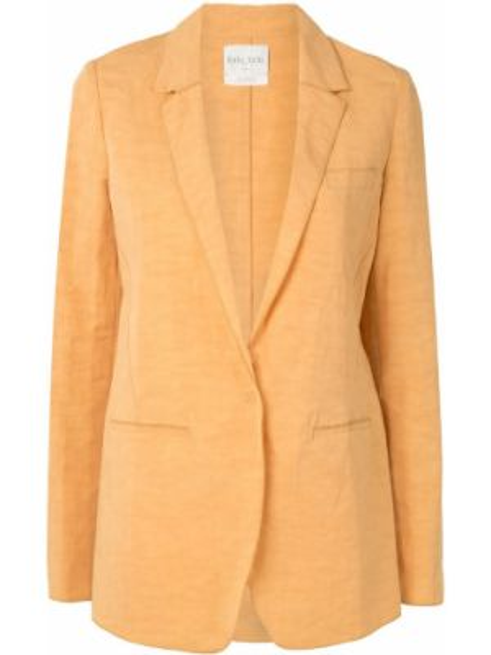 Желтый однобортный пиджак с карманами Forte Forte
