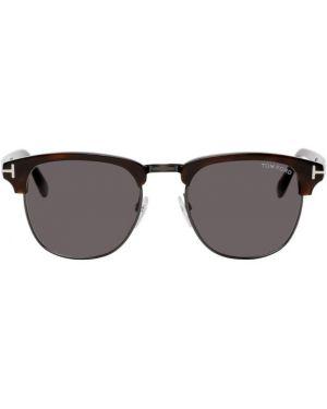 Okulary przeciwsłoneczne czarny srebro Tom Ford