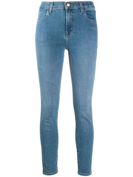 Облегающие зауженные джинсы - синие J Brand