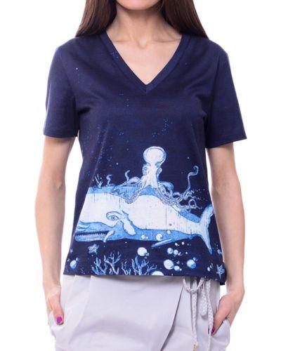 Синяя футбольная футболка Paul Smith