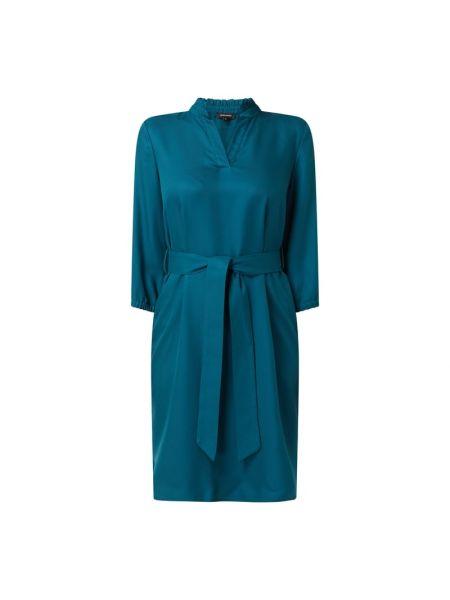 Sukienka z wiązaniami - turkusowa More & More