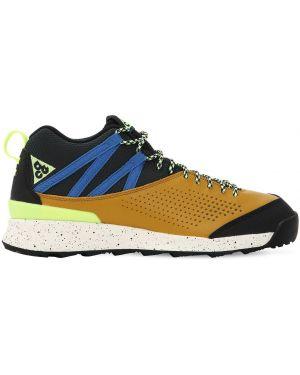 Кожаные кроссовки - коричневые Nike Acg