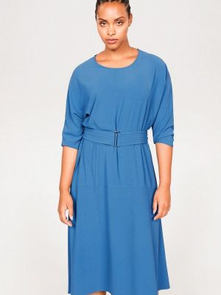 Повседневное платье синее фиолетовый Violeta By Mango