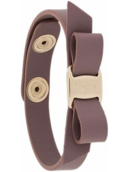 Фиолетовый кожаный браслет Salvatore Ferragamo