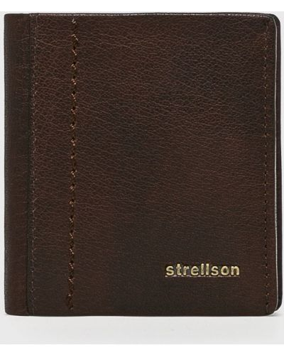 Кошелек кожаный темно-коричневый Strellson