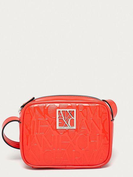 Красная сумка через плечо с подкладкой Armani Exchange