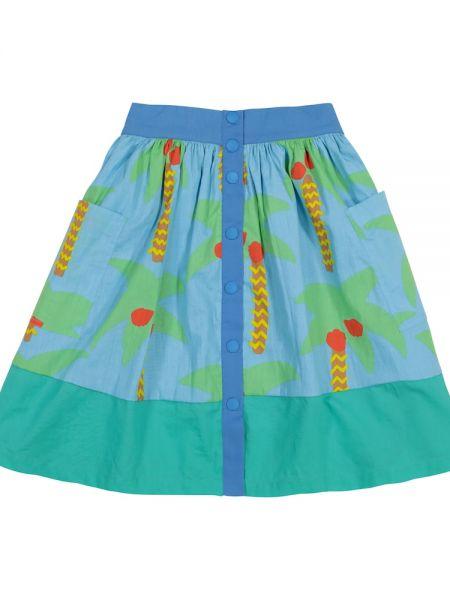 Niebieska spódnica bawełniana z printem Stella Mccartney Kids