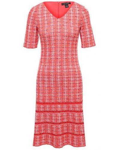 Акриловое красное платье St. John