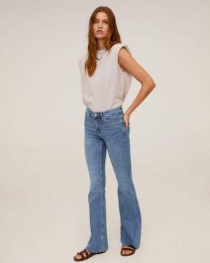 Расклешенные джинсы свободные на пуговицах Mango