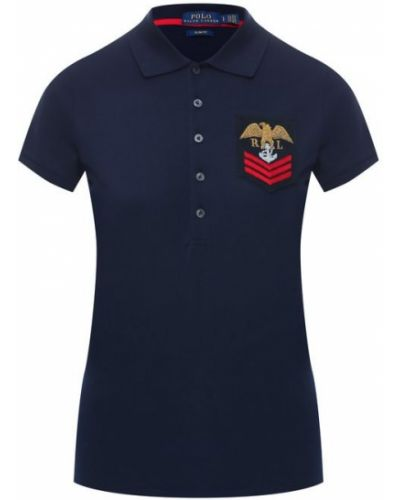 Поло с логотипом с карманами Polo Ralph Lauren