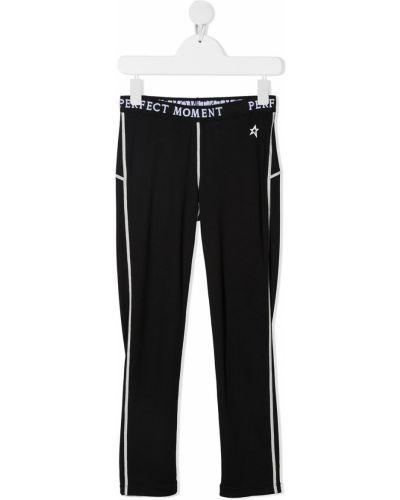 Czarne spodnie z printem Perfect Moment Kids