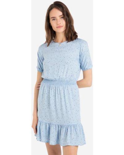 Платье мини в цветочный принт - голубое Gloria Jeans