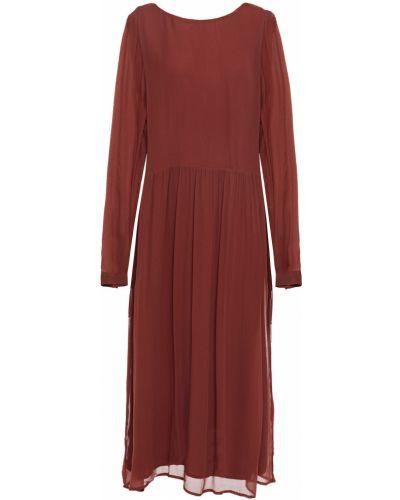 Коричневое платье винтажное с подкладкой American Vintage
