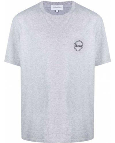 T-shirt bawełniany z haftem krótki rękaw Maison Labiche