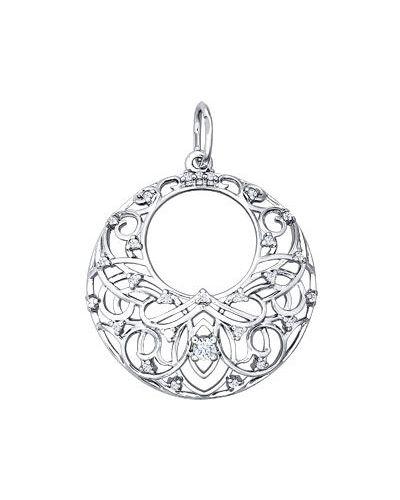Серебряная подвеска круглая серебряный Sokolov
