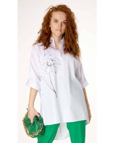 Блузка оверсайз - белая Innoe