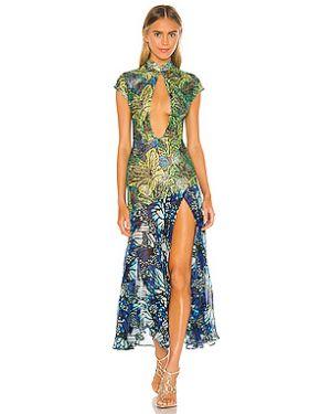 Платье миди шифоновое на молнии Kim Shui