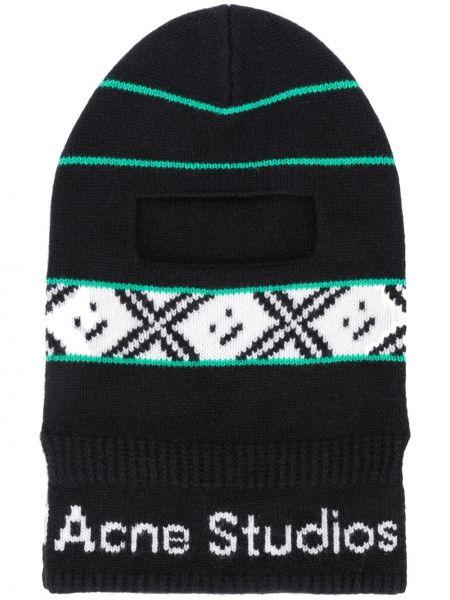 Kominiarka czarny wełniany Acne Studios