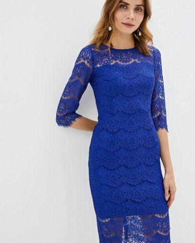 Вечернее платье осеннее синее Vittoria Vicci