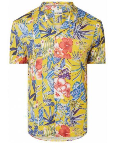 Żółta koszula krótki rękaw Anerkjendt