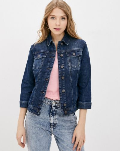 Синяя джинсовая куртка Sisley