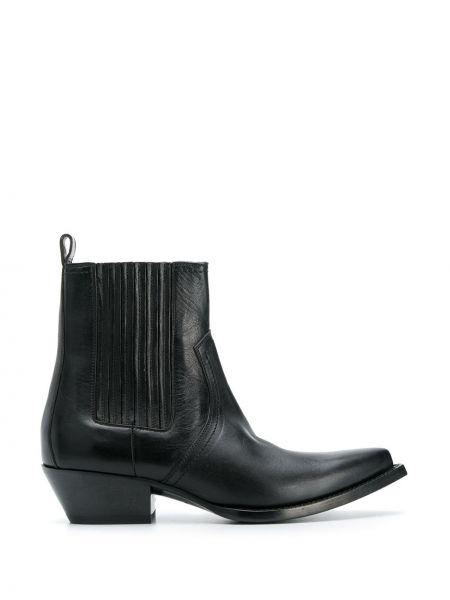 Kowboj buty chelsea czarne Saint Laurent