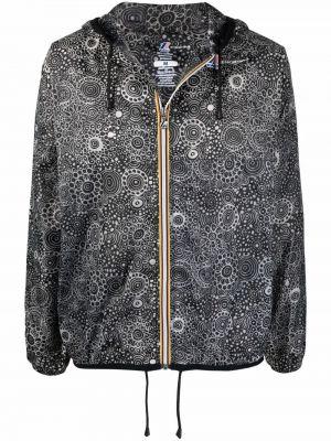 Czarny płaszcz przeciwdeszczowy z kapturem z długimi rękawami 10 Corso Como