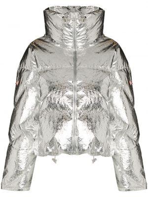 Długa kurtka z długimi rękawami srebrna Cordova