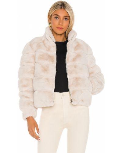 Белая куртка с карманами из искусственного меха на молнии Generation Love