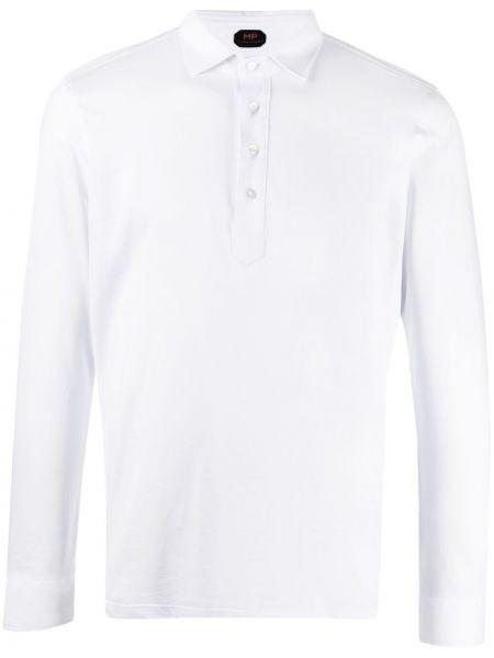 Biała koszula bawełniana z długimi rękawami Mp Massimo Piombo
