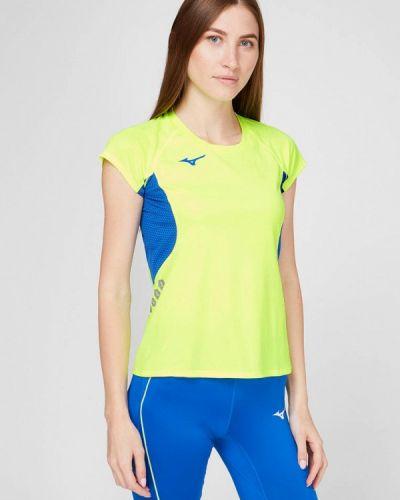 Желтая спортивная футболка Mizuno