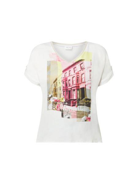 Biała bluzka z wiskozy z dekoltem w serek Gerry Weber