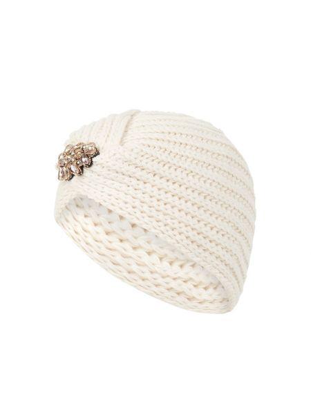 Prążkowana biała czapka Loevenich