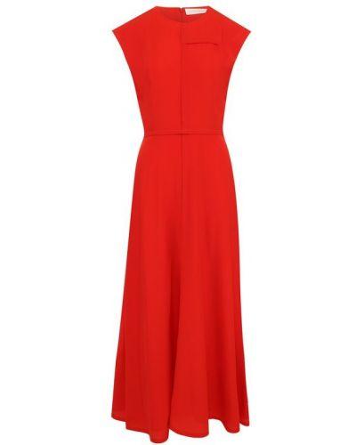 Платье миди шелковое платье-солнце Victoria Beckham